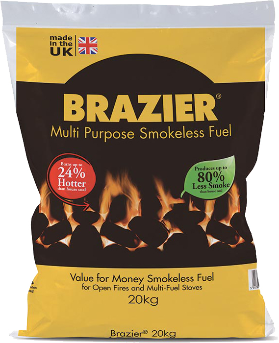 Brazier Smokeless Coal - 20kg  – Now Only £10.00