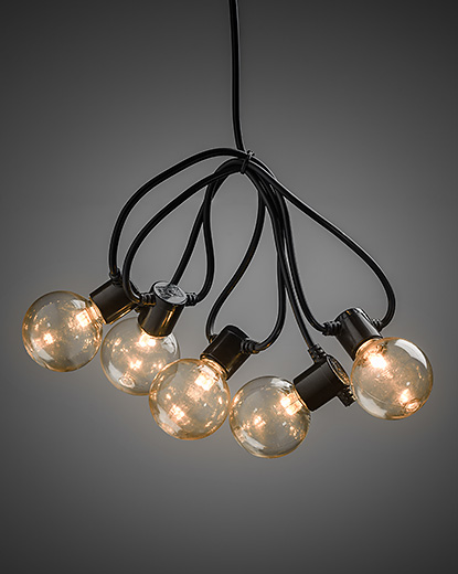 Light Set with 20 Round LED Bulbs - Amber – Now Only £29.00