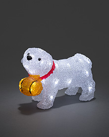 Acrylic St Bernard Dog with 32 white LEDs – Now Only £18.00