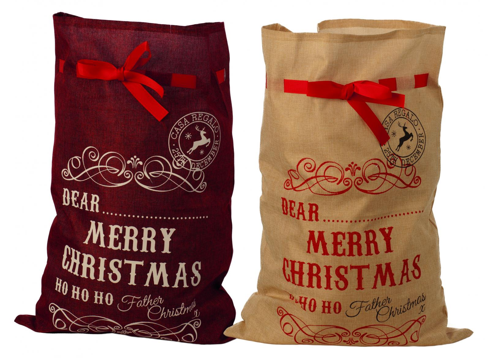 72cm 2 asstd merry christmas sacks – Now Only £5.00