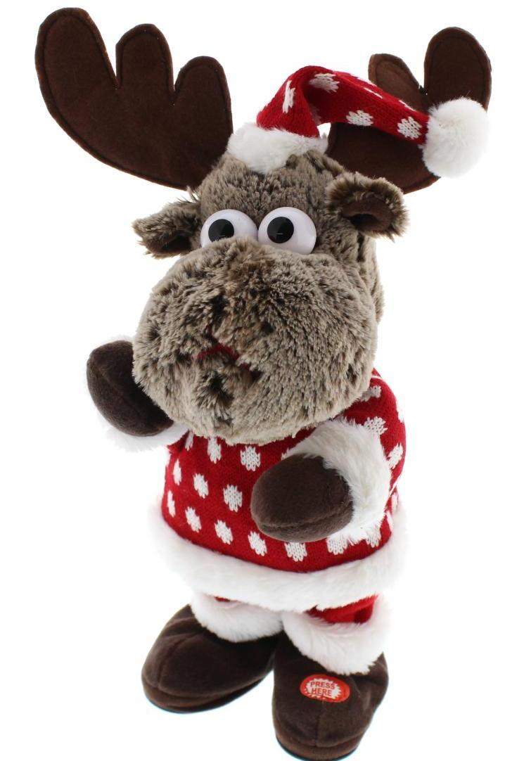 31cm animated reindeer with jumper – Now Only £15.00