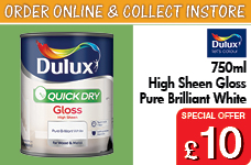 Quick Dry Gloss 750ml Pure Brilliant White – Now Only £10.00