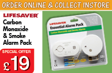 Carbon Monoxide & Smoke Alarm pack – Now Only £20.00
