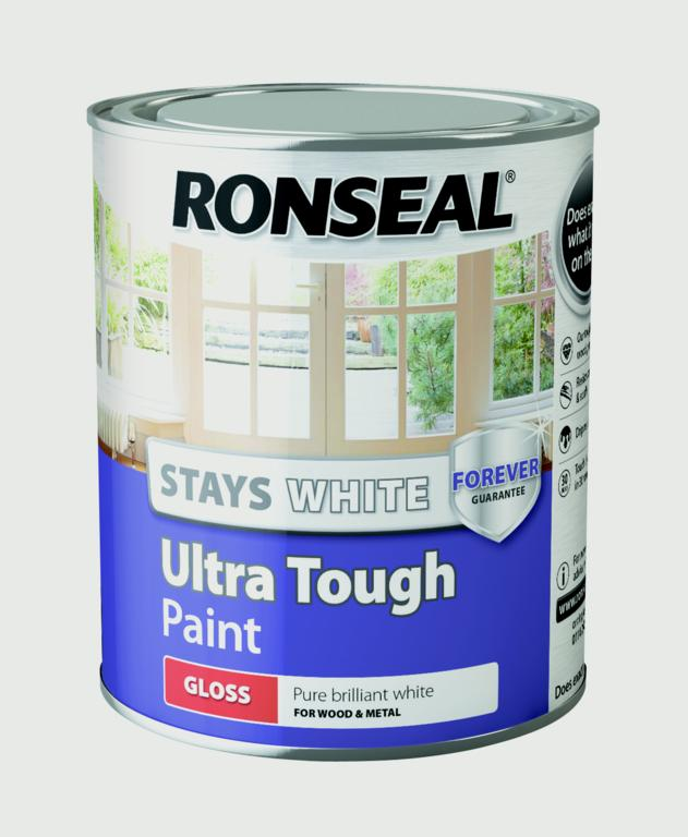 Stays White Ultra Tough Paint White750ml -  – Now Only £12.00