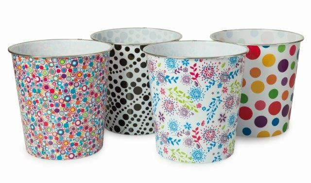 Plastic Pattern Bin Round - Assorted patterns – Now Only £2.00