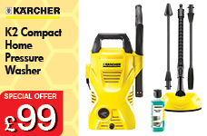 K2 Compact Home Pressure Washer – Now Only £99.00