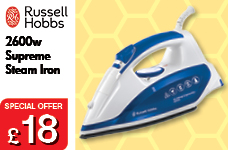Supreme Steam Iron 2600w – Now Only £18.00
