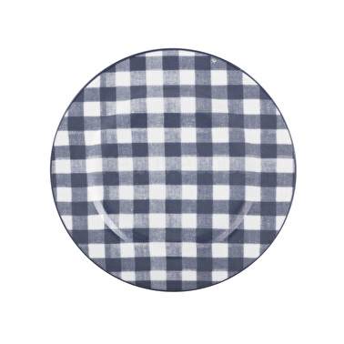 Vintage Indigo Gingham Side Plate – Now Only £6.00