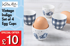 Vintage Indigo Set of 4 Egg cups – Now Only £10.00