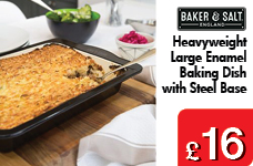 30CM Baking dish Enamel Heavy Weight Base Steel – Now Only £16.00