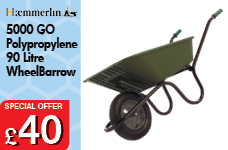 5000 GO Green Polypropylene 90L Pneumatic Barrow – Now Only £40.00