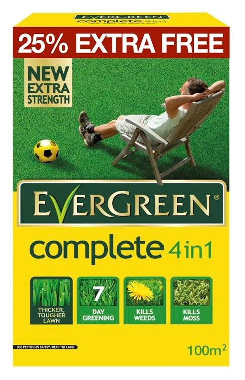 EverGreen 4 in 1 Lawn Care 80m2 Plus 25% Free – Now Only £10.00