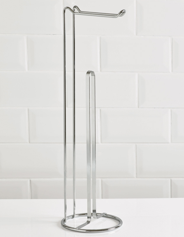 Minimus Toilet Roll Holder and Storage Tower - Chrome – Now Only £7.00