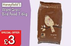 Wont grow bird food 1.6kg  – Now Only £3.00