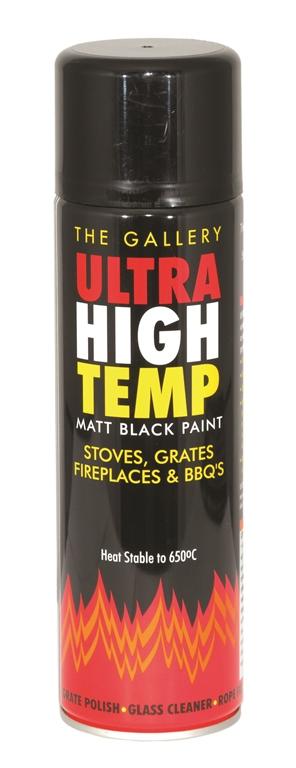 250ml Matt Black Stove Paint Aerosol – Now Only £7.00