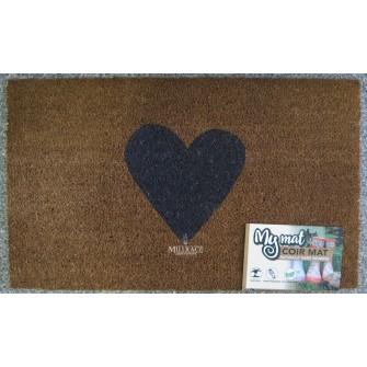 My Mat Printed Coir Mat 45 x 75cm Heart – Now Only £9.00