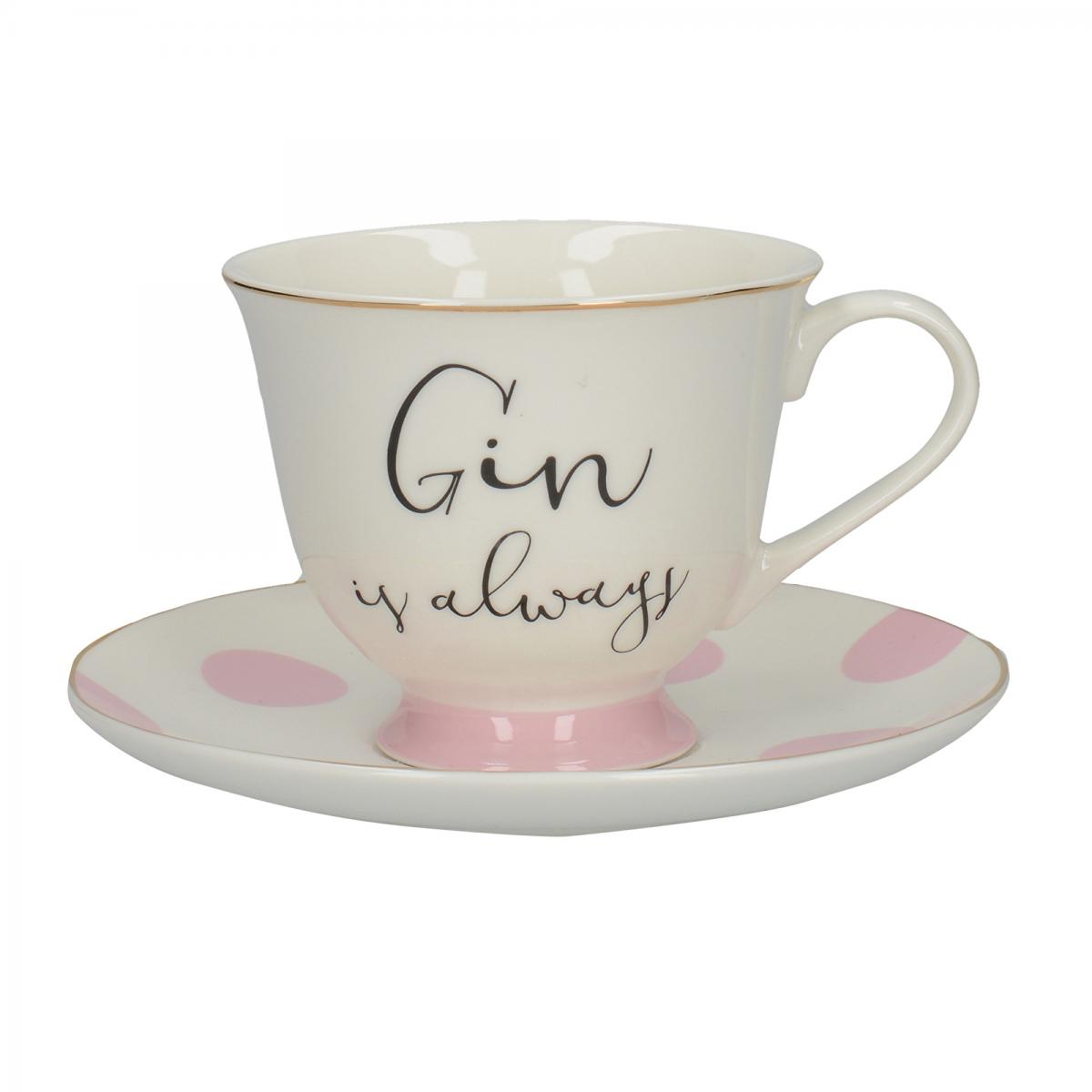 Ava and I Gin & Tonic Teacup & Saucer – Now Only £10.00