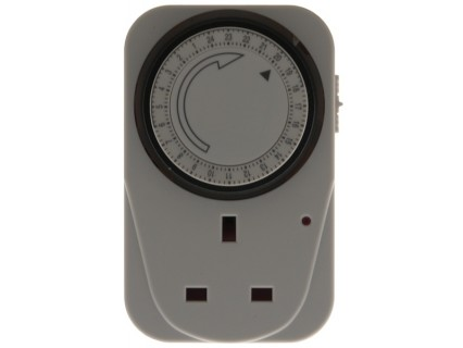 24 Hour Plug In Timer Switch - White  – Now Only £4.00