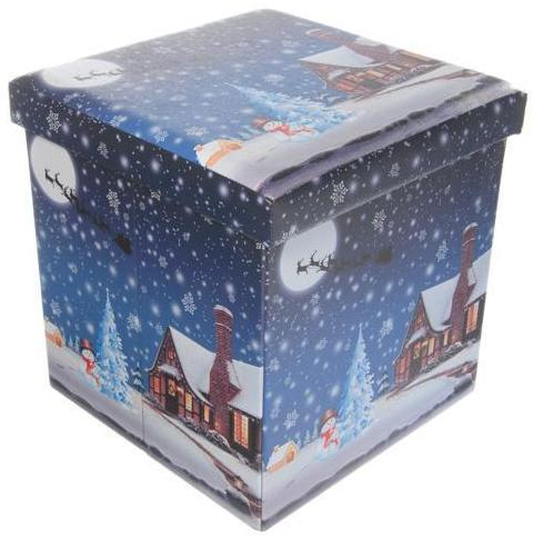 38 X 38cm Foldable Santa/Sleigh scene storage box – Now Only £15.00