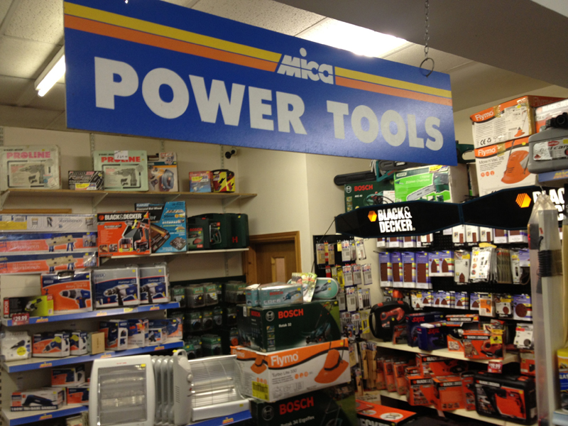 Our power tools department