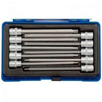 "3/8"" Sq. Dr. 150mm Long Draper TX-STAR® Socket Bit Set (10 Piece)"