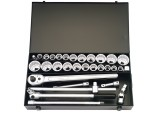 "3/4"" Square Drive Metric and Imperial Socket Set (31 Piece)"