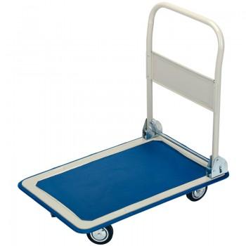 150kg Platform Trolley with Folding Handle - 630 x 480 x 850mm