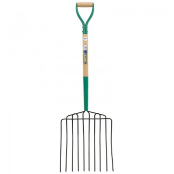 10 Prong Manure Fork with Wood Shaft and MYD Handle