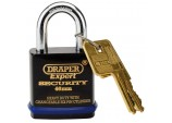 Expert 46mm Heavy Duty Padlock and 2 Keys with Super Tough Molybdenum Steel Shackle