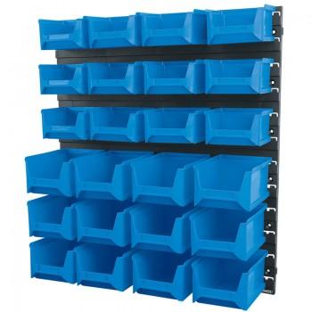 24 Bin Wall Storage Unit (Small/Medium Bins)
