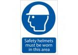 'Safety Helmet' Mandatory Sign