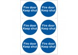 6 x 'Fire Door Keep Shut' Mandatory Sign
