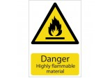 'Danger Flammable Material' Hazard Sign