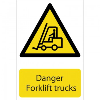 'Danger Forklift Trucks' Hazard Sign