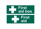 'First Aid Box' Safety Sign