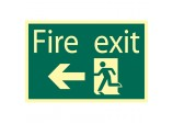 Glow In The Dark 'Fire Exit Arrow Left' Safety Sign