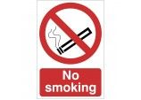 'No Smoking' Prohibition Sign