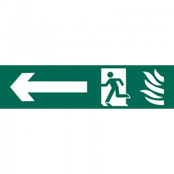 'Running Man Arrow Left' Safety Sign