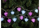 100 Lv heart lights Pink and White LED - Multi function