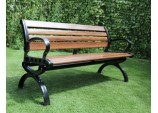 9 Slat Wood Effect Fibreglass Bench