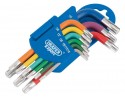Metric Coloured Short Arm Draper TX-STAR Key Set (9 Piece)