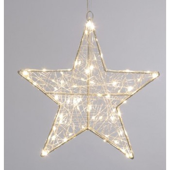 38cm Twinkling Dewdrop star light- Warm white