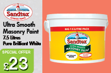 Ultra Smooth Masonry Paint 7.5L Pure Brilliant White – Now Only £23.00