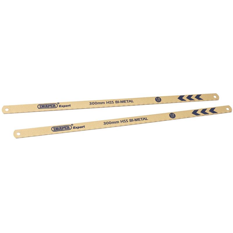 Expert 2 x 300mm 18tpi Bi-Metal Hacksaw Blades – Now Only £3.07