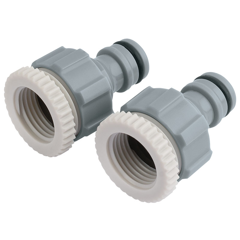 """Twin Pack of Tap Connectors (1/2"""" and 3/4"""") – Now Only £1.63"""