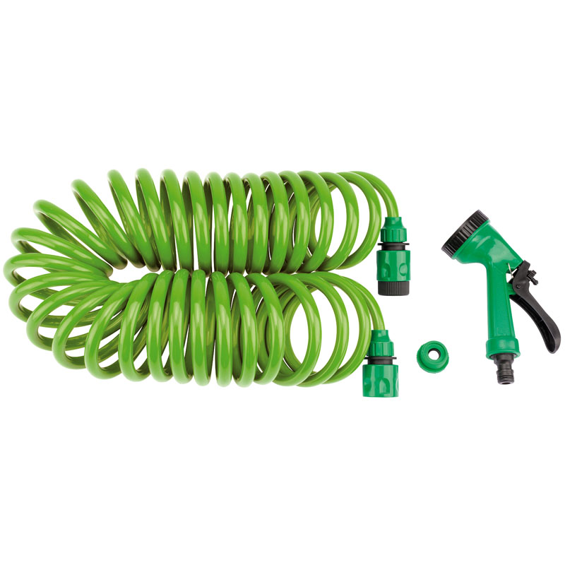 Recoil Hose with Spray Gun and Tap Connector (10M) – Now Only £8.85