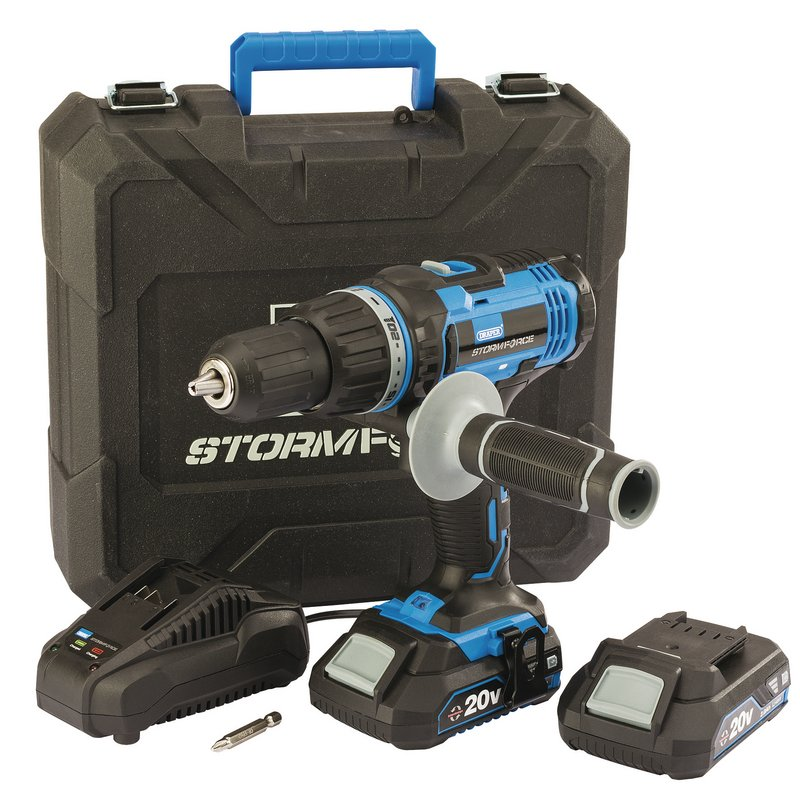Draper Stormforce®  20V Combi Drill with 2 x 2.0Ah Batteries + Charger – Now Only £80.73
