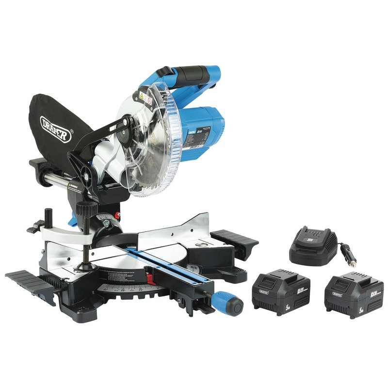 D20 20V Brushless 185mm Sliding Compound Mitre Saw Kit