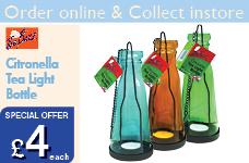 Citronella Tea Light Bottle – Now Only £4.00