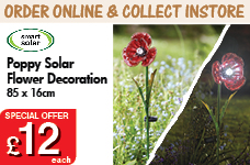 Poppy Solar Flower – Now Only £12.00
